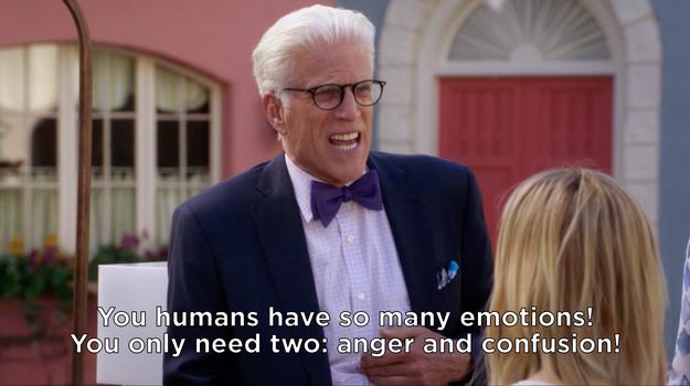 When he explained emotional range: