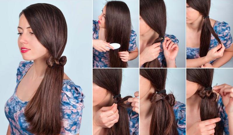 Peinados faciles y rapidos cabello largo