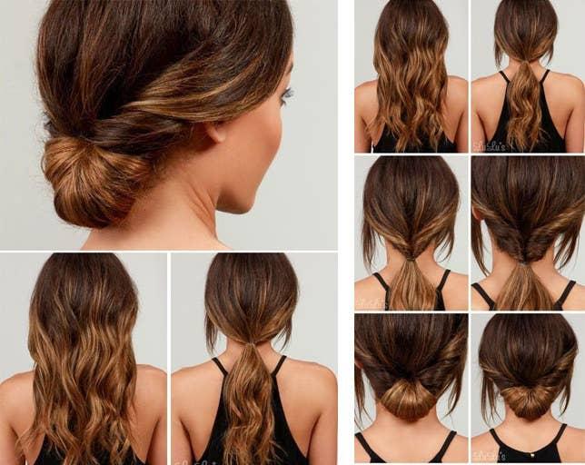 17 Peinados Rapidos Para Chicas De Pelo Largo Y Con Poco Tiempo En