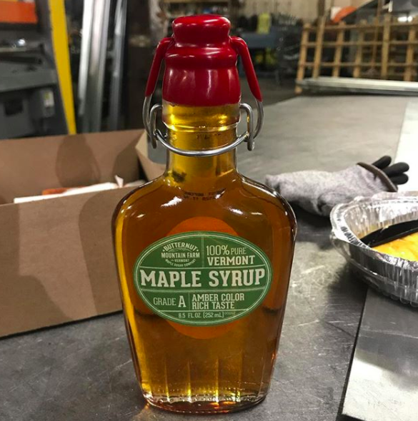 Vermont: Maple syrup.