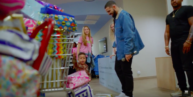 """""""God's Plan,"""" directed by Karena Evans, shows Drake spending time with the Miami community."""