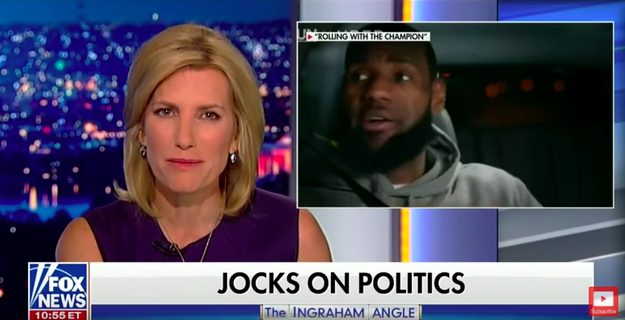 "Ingraham completed the segment saying, ""Oh, and LeBron and Kevin, you're great players, but no one voted for you. Millions elected Trump to be their coach, so keep the political commentary to yourself or, as someone once said, shut up and dribble."""