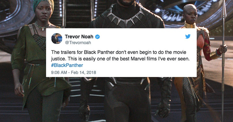 """Here's How 19 Celebrities Have Reacted To """"Black Panther"""""""