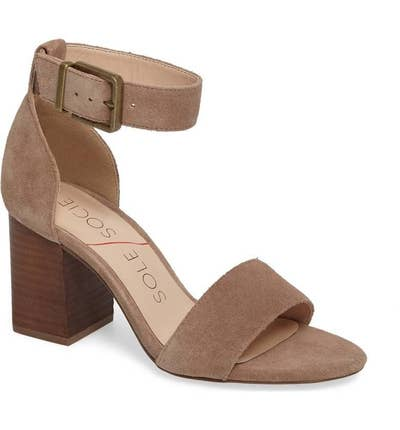 321c91932486 Block heel sandals that are actually the perfect excuse to treat yourself  to a pedicure, am I right?