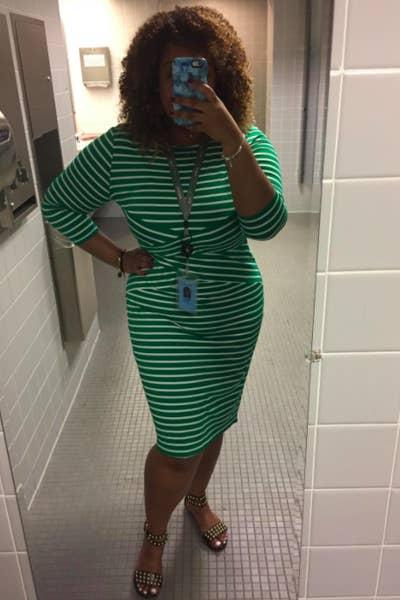318f5d834c 20. A striped 3/4 sleeve that'll say