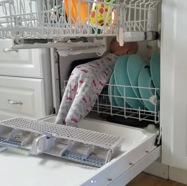 This mom who tried to load the dishwasher.