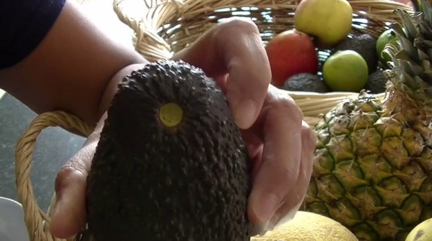 Apropos avocado... If you take the stem off you can peek underneath to see how ripe it is.