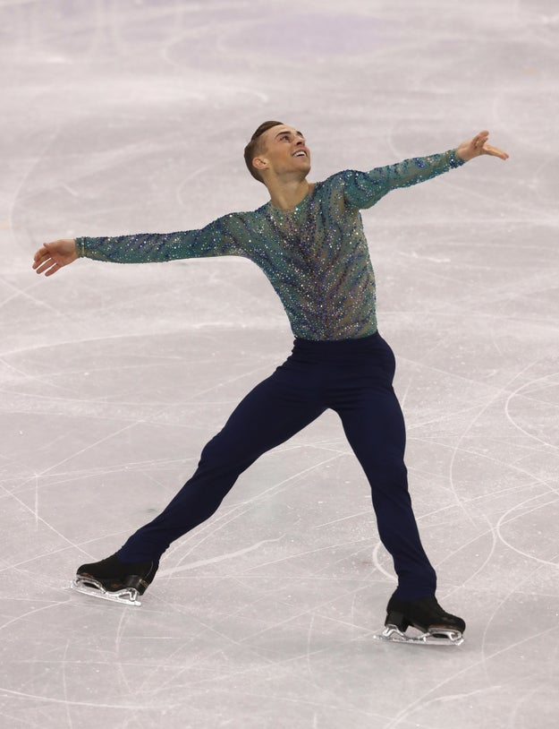 The first openly gay athlete to qualify for the US Winter Olympic squad had already claimed a bronze medal as part of the team event, but Saturday was his big chance to get a solo medal.