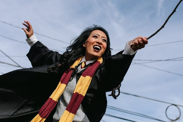 "Nguyen came up with the creative idea, but her fiancé quickly got pumped about it. ""We originally thought we would just dress up as Thor and Harry Potter. But then, we sat on our couch and started to name other people we wanted to dress up as, and it became the funniest conversation."""
