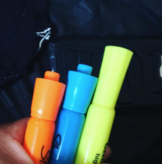This boyfriend who brought these home when his girlfriend said she needed highlighter.