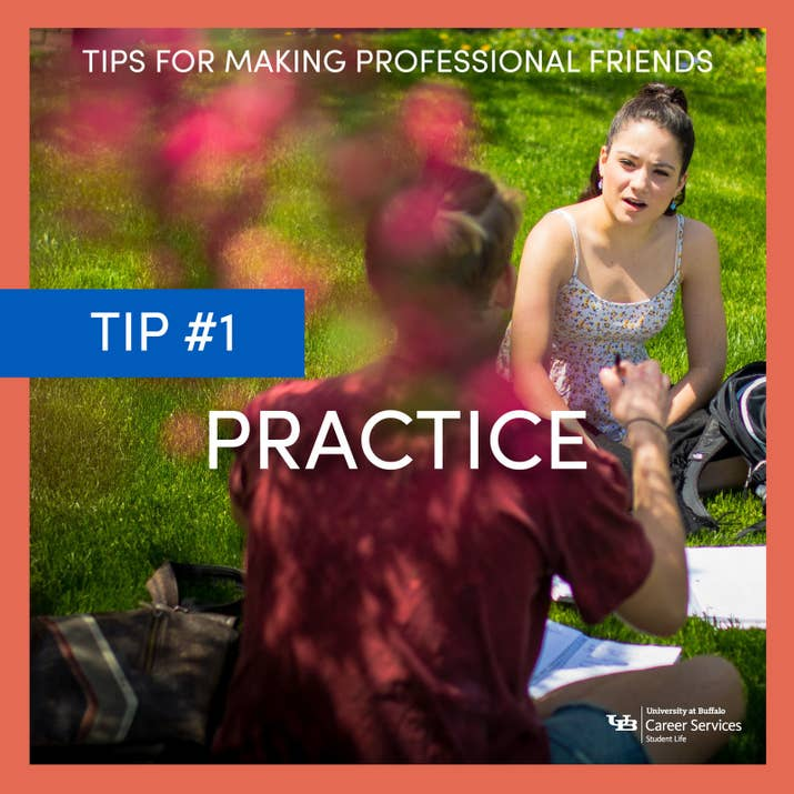 Career services top tips for making professional friends just like anything practice makes perfect meaning you should have a well solutioingenieria Images