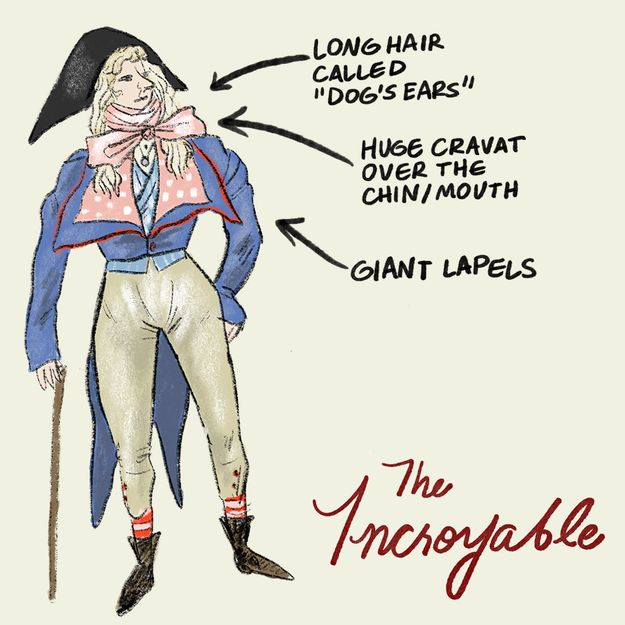 The Incroyables were the male counterparts to the Merveilleuses.