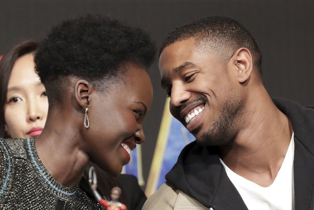Fans have also been shipping the heck out of co-stars Michael B. Jordan and Lupito Nyong'o.