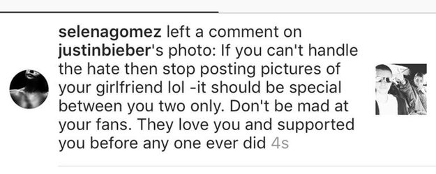 Although Charlie doesn't mention in the interview when this alleged fling was supposed to have happened, the duet was released in 2016, a couple of months before Selena commented on one of Justin's photos about his then new girlfriend, Sofia Richie.