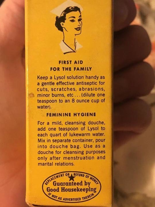 This vintage Lysol product that is wayyy too versatile.