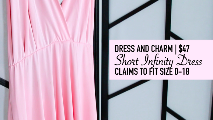 The dress is advertised as a convertible dress that can be styled a number of different ways.