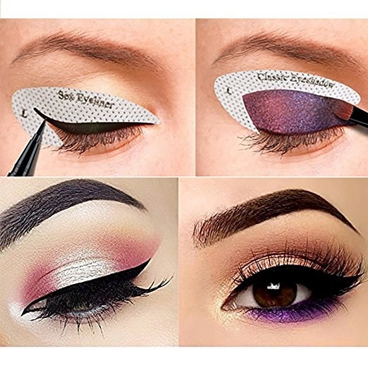 Eyeshadow can be an intimidating thing to experiment with, but with stencil stickers, anyone, even beginners, can make it work.