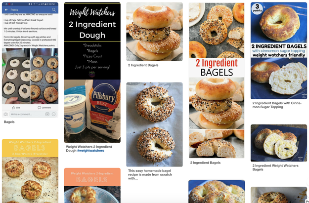 Luckily, there's an easy way to solve this dilemma: the ~miracle bagel.~ It's a two-ingredient recipe that's been making the rounds on Pinterest and Facebook for the past few months.