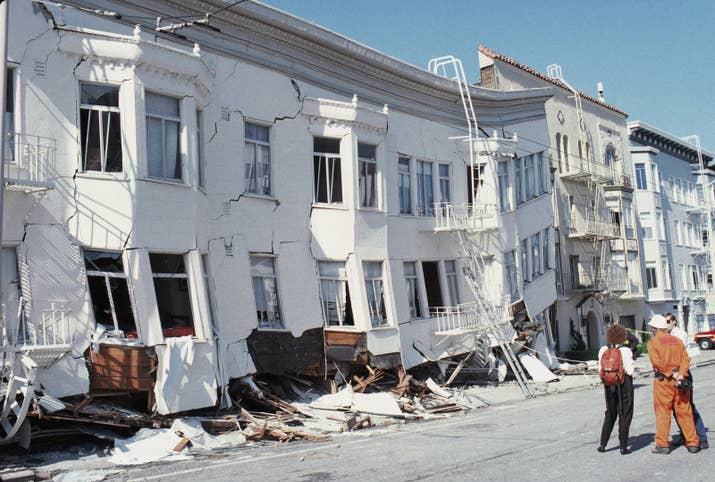 San Francisco after an earthquake on Oct. 17, 1989.