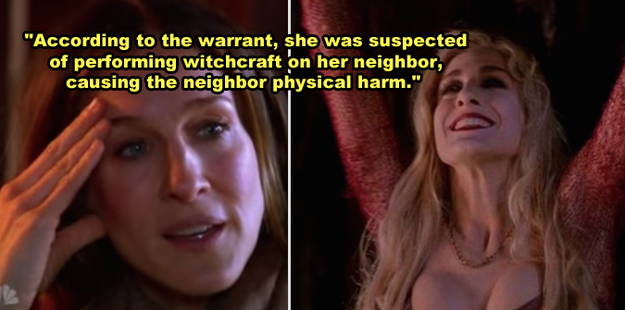 Sarah Jessica Parker is a descendant of someone who was accused of being a witch during the Salem witch trials.