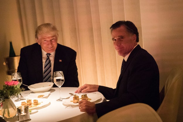 Anyway, Trump won the election and invited Romney to a very awkward dinner to discuss whether he might serve as secretary of state. (Spoiler: he didn't get the job despite the very public audition.)