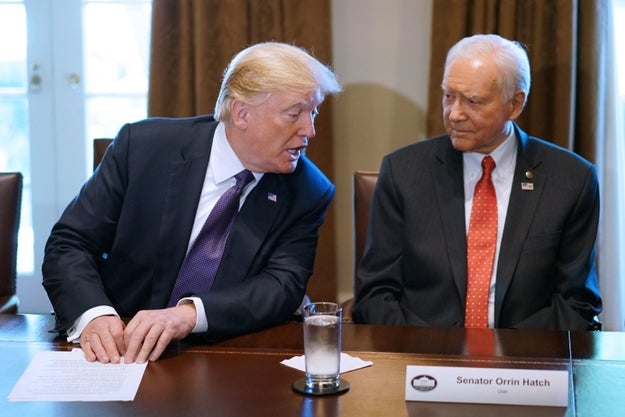 Romney's running for the seat of retiring Senator Orrin Hatch, who President Trump had publicly urged to run for reelection.