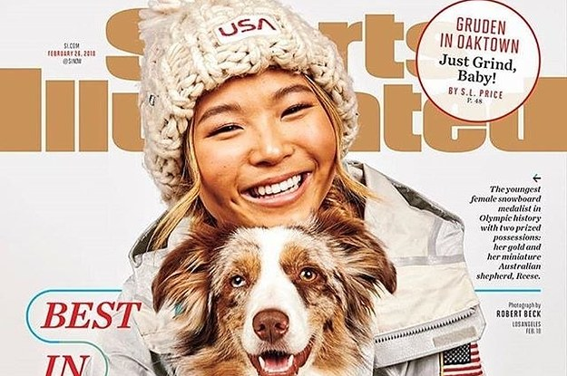 Chloe Kim Posed With Her Dog On The Cover Of Sports Illustrated And It's The Only Pure Thing Left On This Earth
