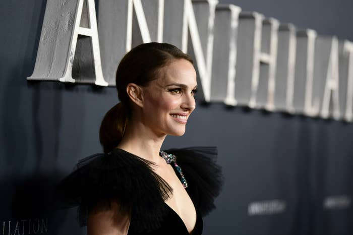 Natalie Portman at the premiere of Annihilation.