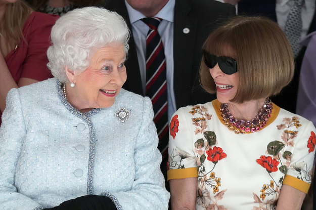 The Queen And Anna Wintour Hung Out Together At London Fashion Week