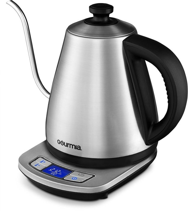 A temperature-variable electric kettle for anyone who has ever asked a barista for coffee at a specific temp. Take that power into your own hands.