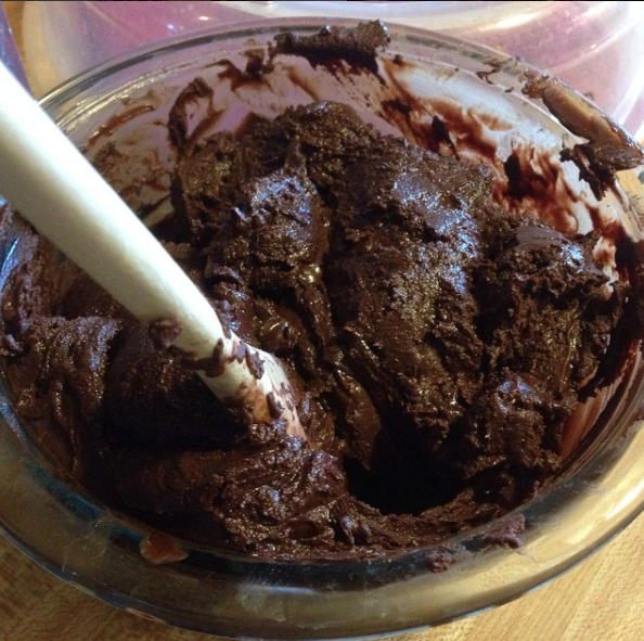 When working with chocolate, make sure all your surfaces and tools — bowls, spoons, measuring cups — are completely dry.