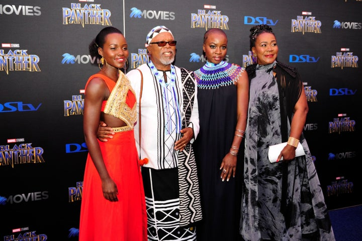 Black Panther enjoyed a rare red carpet premiere in South Africa, attended by several of the film's stars, and actor Lupita Nyong'o's father, Gov. Anyang' Nyong'o, arranged for special private and public screenings in her hometown of Kisumu, Kenya on Feb. 13.