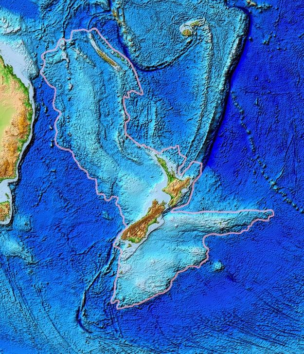 New Zealand is part of a hidden underwater continent called Zealandia.