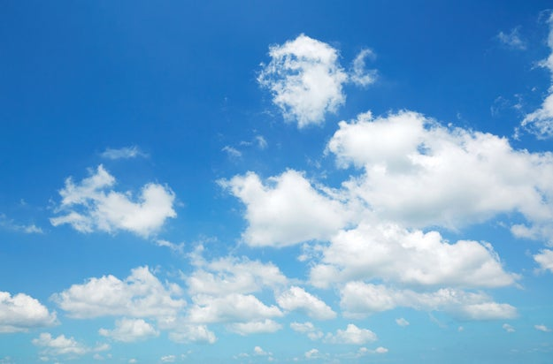 The average cloud weighs over a million pounds.