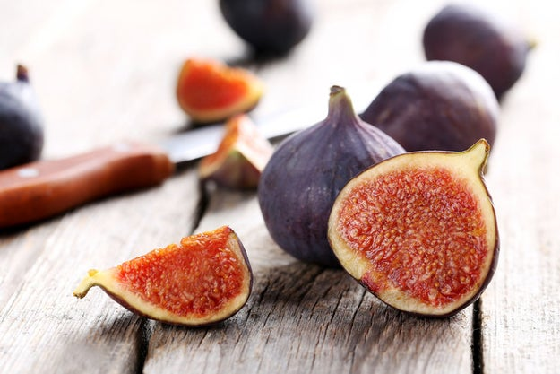 Figs have wasps in them.