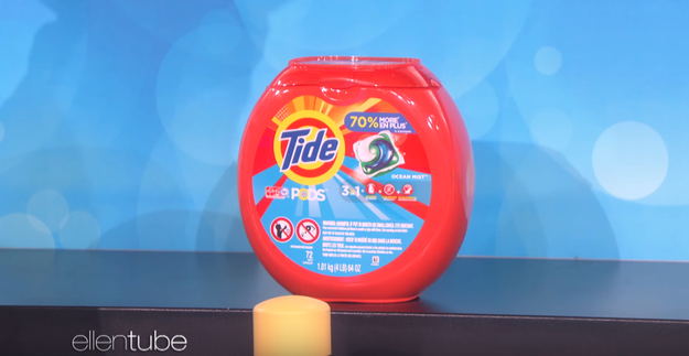 Next up were Tide Pods, which, contrary to popular social media belief, are used for laundry, not eating. Obviously wary of overshooting like last time, Bill first guessed $4. But after a little help from the audience, he decided to raise his guess to $10.