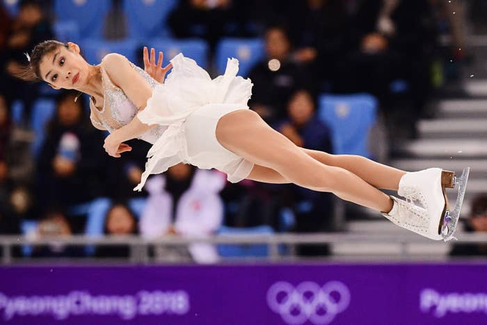 China's Yu Xiaoyu competes in the pair skating short program Feb. 14.