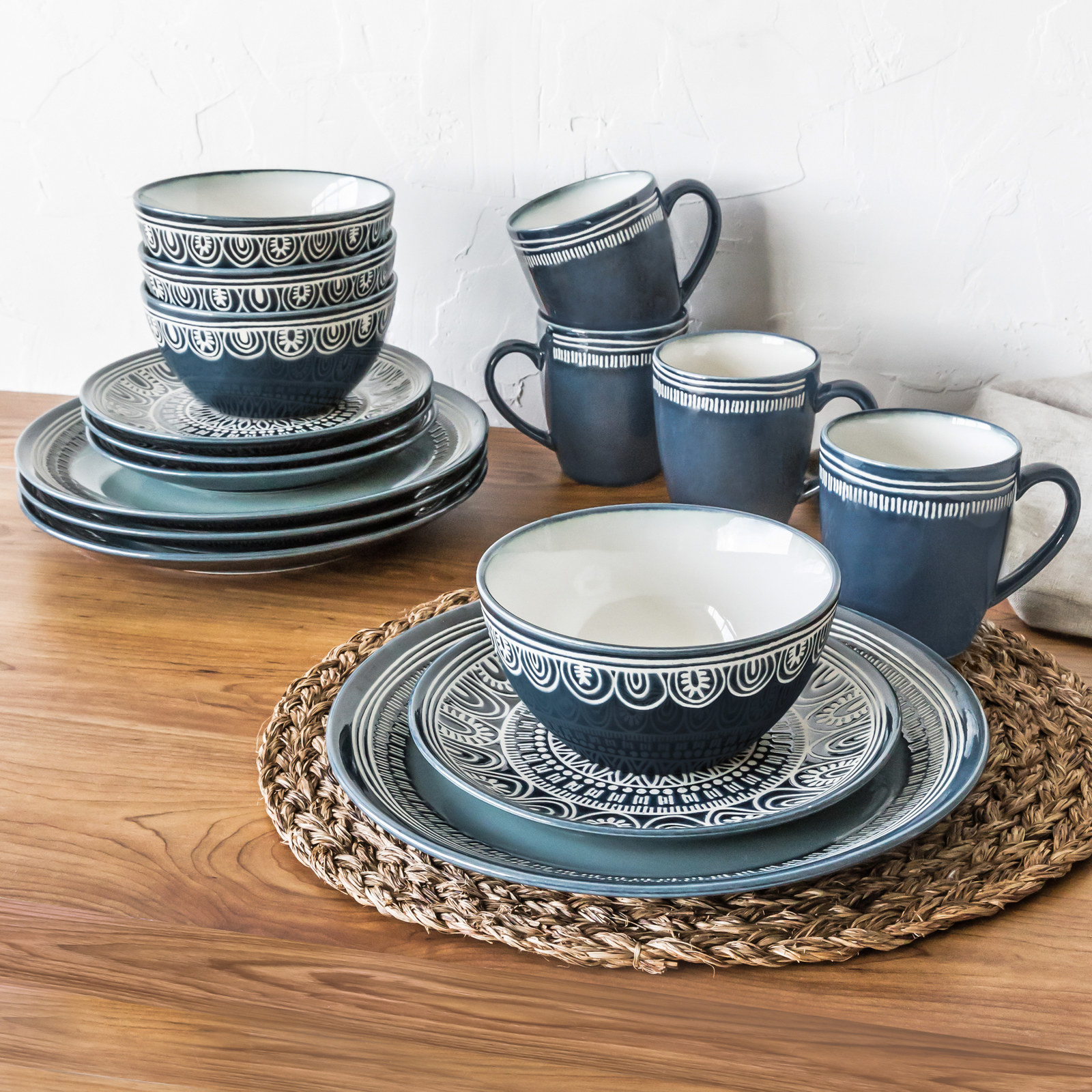 Service for four includes four dinner plates four salad plates four bowls and & 15 Of The Best Dishware Sets You Can Get On Amazon