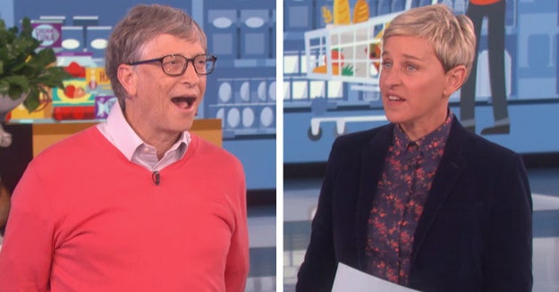 Ellen DeGeneres Made Bill Gates, A Billionaire, Guess Grocery Store Prices And It's Hilarious