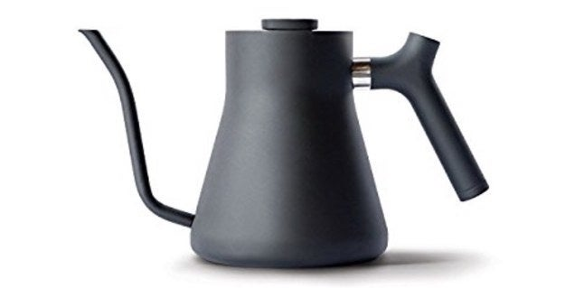 And a weighted pour-over kettle for anyone who worries about watery pour-overs, or for the person who just spills hot water all over the place with ~regular~ kettles (me).
