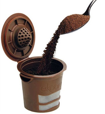 A reusable, Keurig-compatible filter so you can enjoy instant coffee gratification without the guilt of harming the environment.