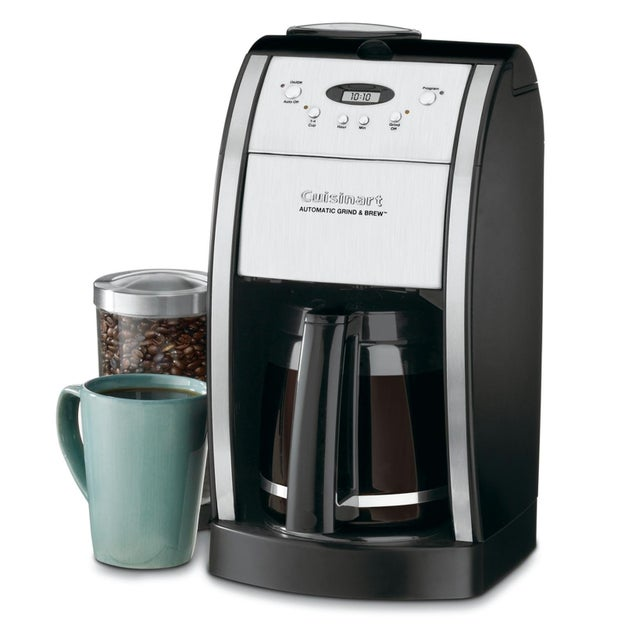 A Cuisinart coffee maker worthy of investing in – it can grind and brew, and is 24 hour programmable.