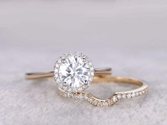 Moissanite rings.