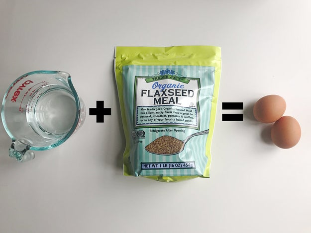 HACK #8: Substitute flaxseed and water for eggs to make vegan baking goods.
