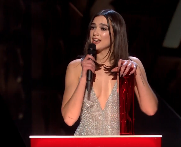 In her acceptance speech, Dua thanked her team, her family, and friends, but it was the end of the speech that was even more emotional, when she dedicated the award to the women who had carved the way.
