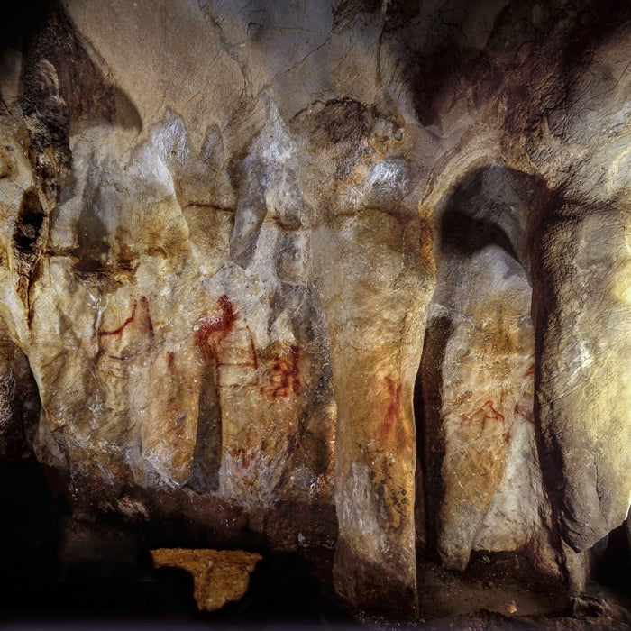 A ladder-shaped figure in the Cave of La Pasiega.