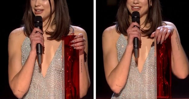 Dua Lipa Just Dedicated Her Brit Award To Women And It's Emotional AF