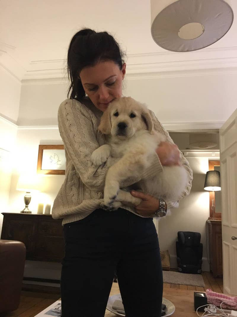Here's Gemma with Charlie as a puppy.