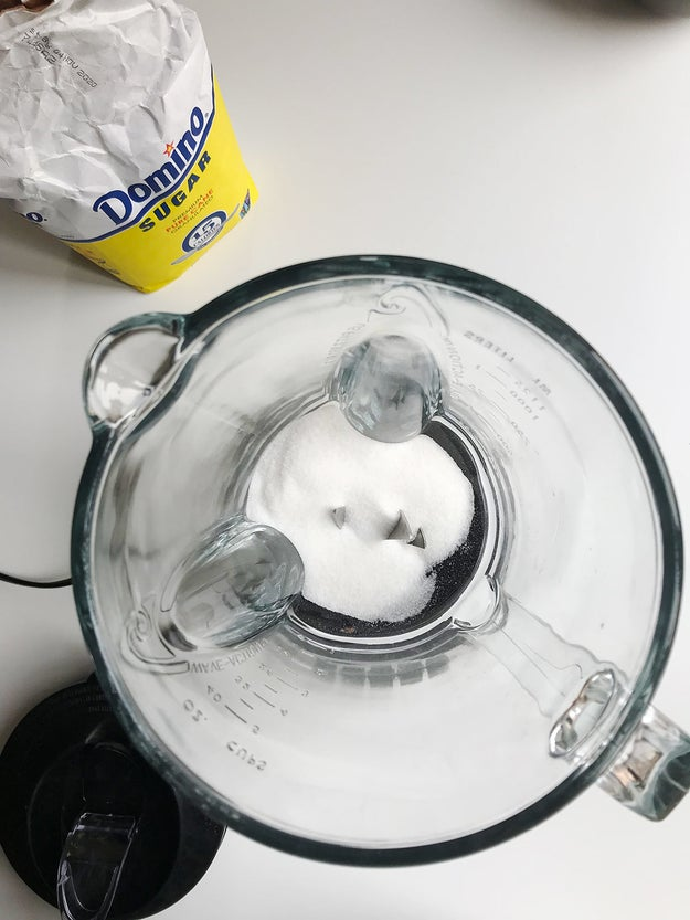 HACK #11: Use a food processor to turn granulated sugar into powdered sugar.
