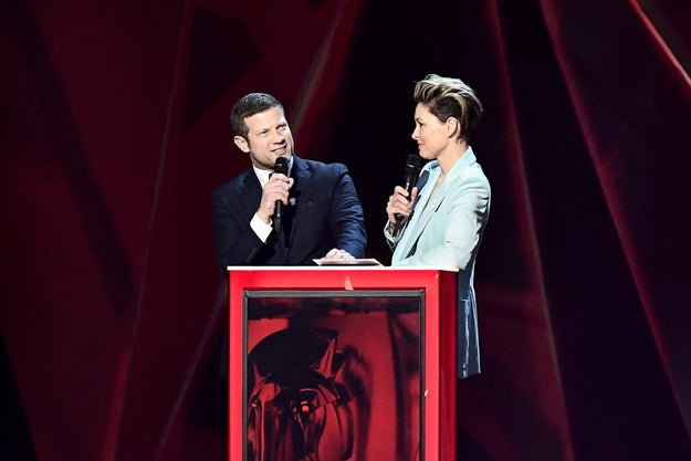 And finally, when Dermot and Emma Willis, who hosted the Brits last year, came on to give out an award and asked why they were not asked to host again this year.